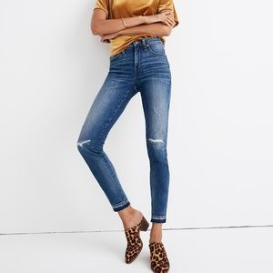 "Madewell 9"" High-Rise Skinny Jeans: Rip and Repair"